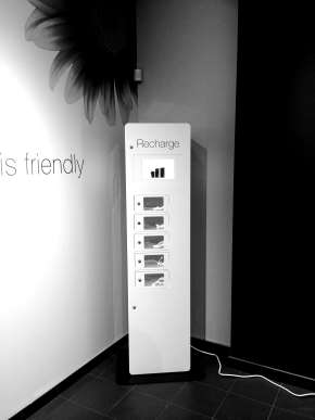 TELUS Charging Station black and white